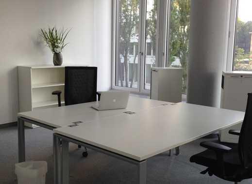 Büro (4 Arbeitsplätze) zur Untermiete im Sky Office mit Office-Service, Klima, Reinigung, Internet
