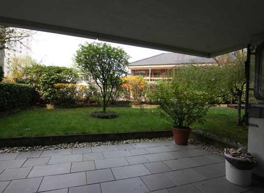 Terrasse und kleiner Garten, Souterrainwohnung in Weidenpesch