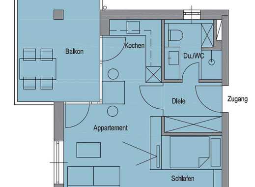 1-Zimmer-Apartment in Kolbermoor mit großzügigem Balkon
