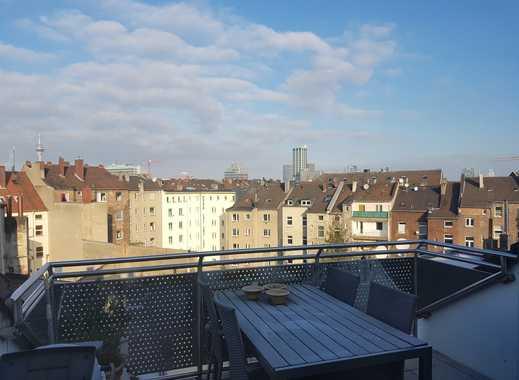 Zentral aber ruhig: Schöne 1-Zimmer-Maisonette-Whg.  mit  Dachterrasse u. Einbauküche