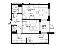 hübsche 3-Zimmerwohnung in Südausrichtung