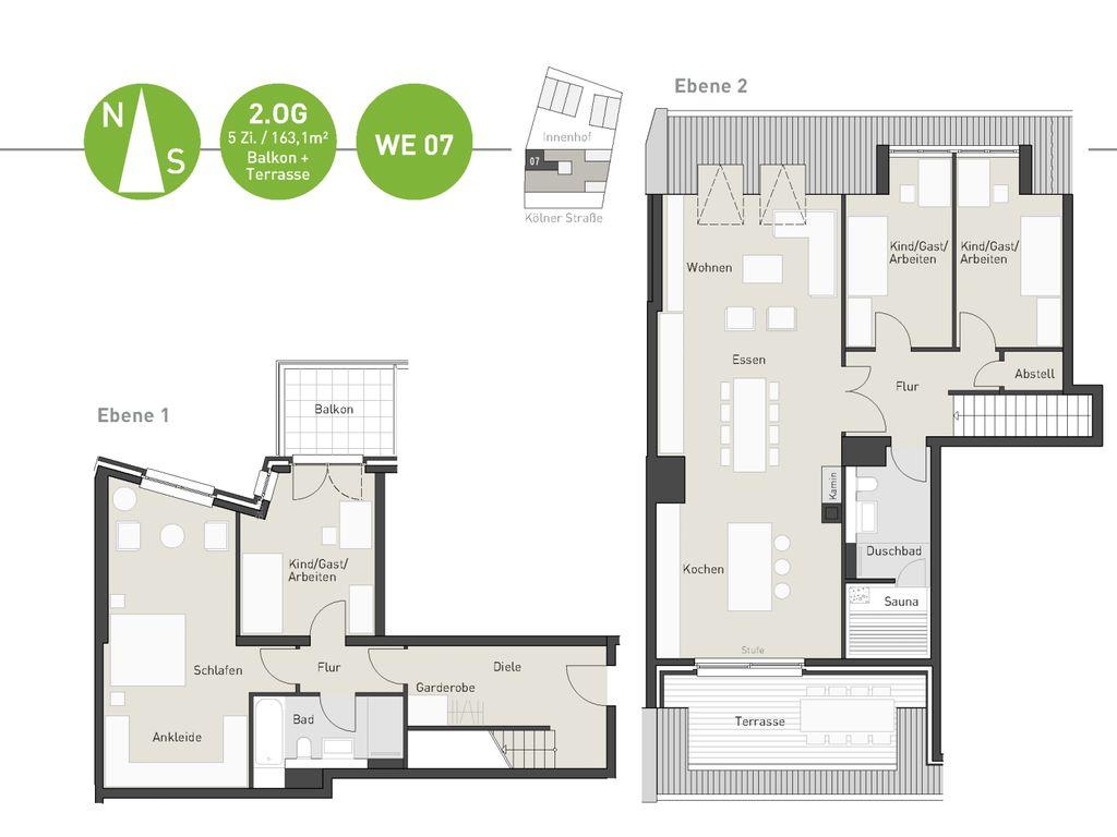 willkommen in ihrem sch nen refugium auf zwei ebenen mit terrasse und balkon optional sauna kamin. Black Bedroom Furniture Sets. Home Design Ideas