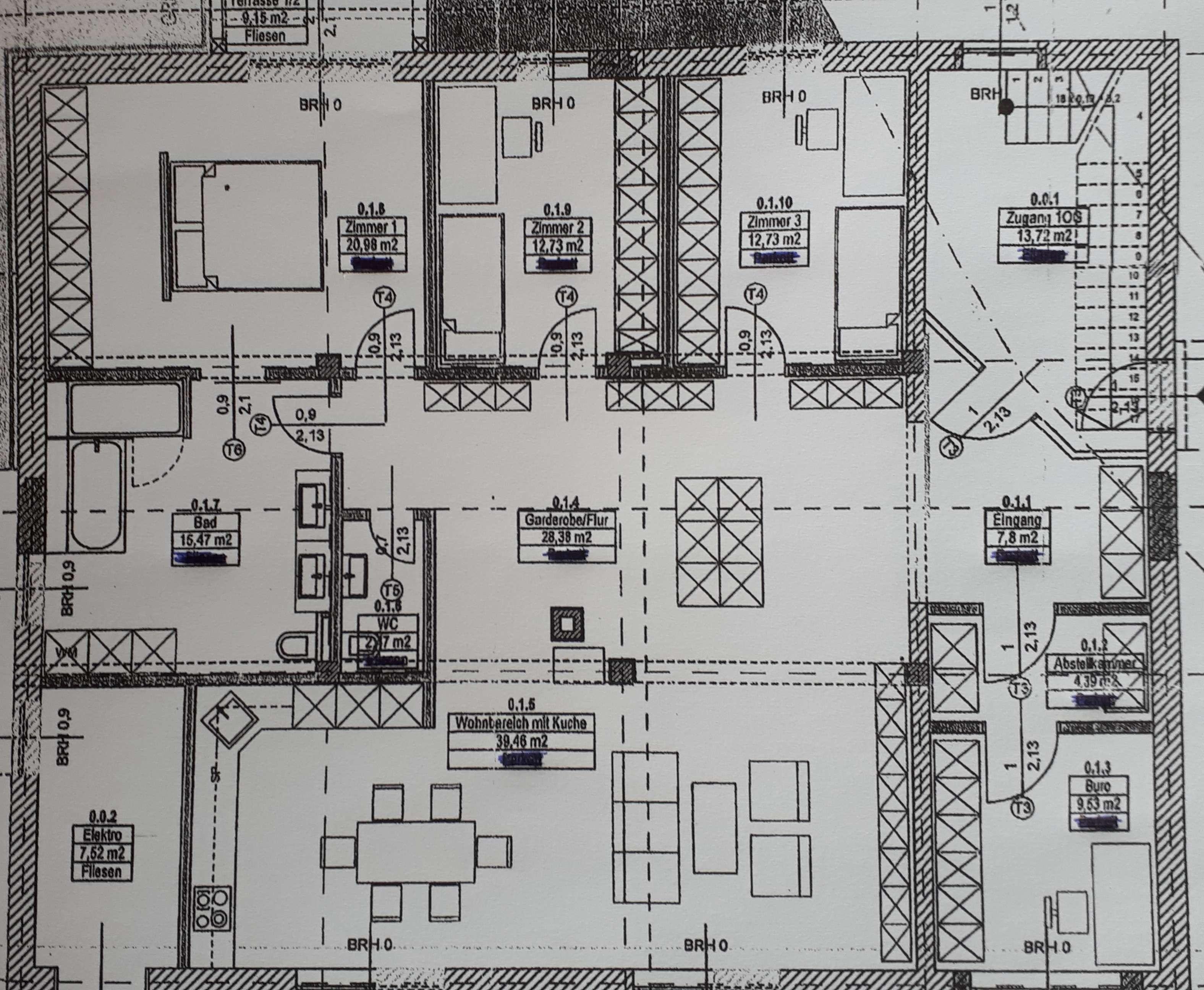 5 1/2 Zi.EG Wohnung 150 qm in Obertraubling, ruhige Wohnlage/Nebenstr. in