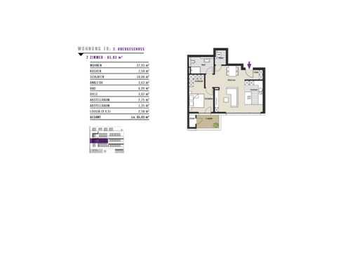 *Exklusiv- in zentraler Lage - 2 Zimmer Wohnung zu verkaufen!