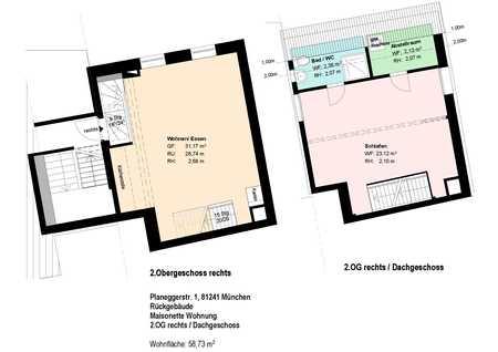 *Pasing Marienplatz*Maisonette-Wohnung*möbliert*EBK* Parkett* in Pasing (München)