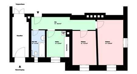 *Schwanthalerhöhe*2 Zimmer-Wohnung*möbliert*EBK*Bad mit Wanne*Keller* in Schwanthalerhöhe (München)