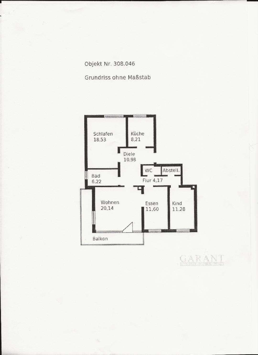 Schöne vier Zimmer Wohnung mit großem Balkon in  Königsbrunn