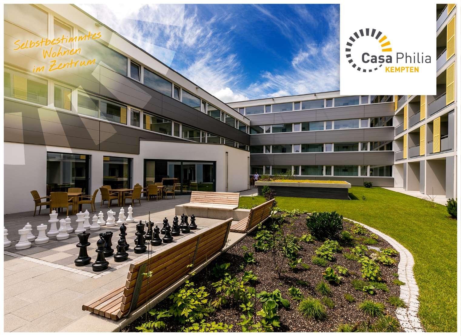 Wohnen ab 65 – direkt im Zentrum – mit oder ohne Pflege - im Casa Philia in Kempten (Allgäu)-Innenstadt