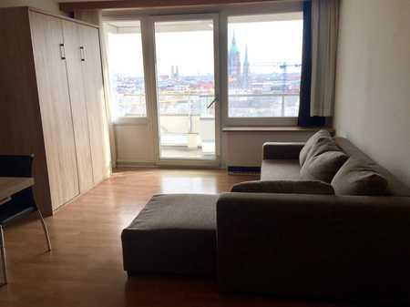 Schönes möbliertes Appartment mit gigantischem BLICK und großem Balkon in Schwanthalerhöhe (München)
