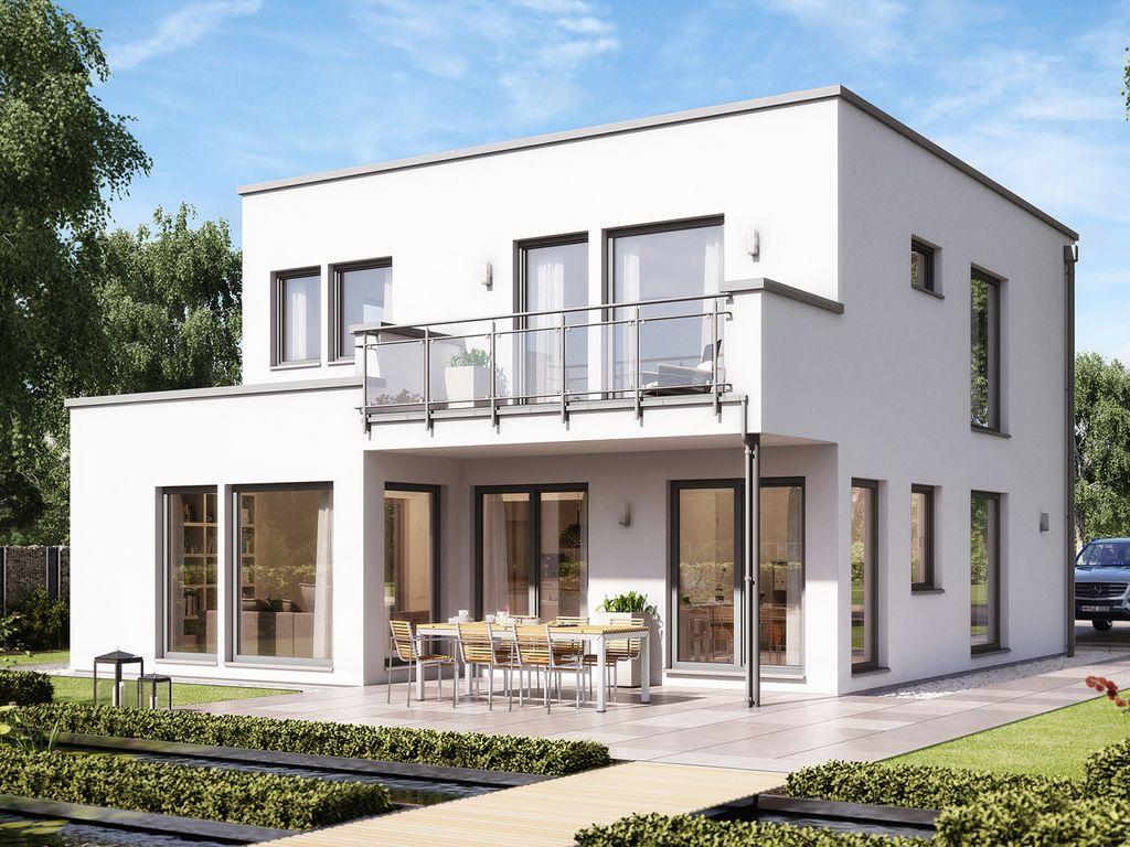 SOLUTION 134 V10 – Modernes Traumhaus mit Übereckerker und Balkon