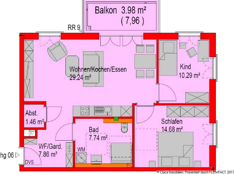 NEUBAU 3 Zimmer Wohnung 1.OG mit Balkon 6