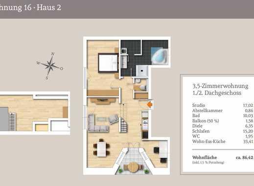 Extravagante 3,5.-Zi.-Maisonettewohnung mit großem Studio
