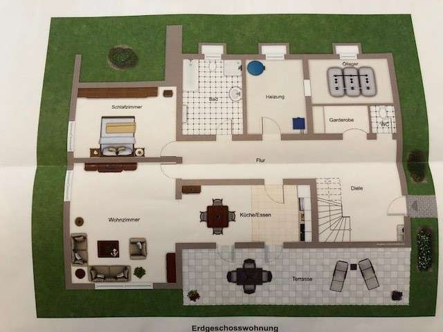 2-Zimmer-Erdgeschosswohnung mit Terasse in Neufahrn NB in