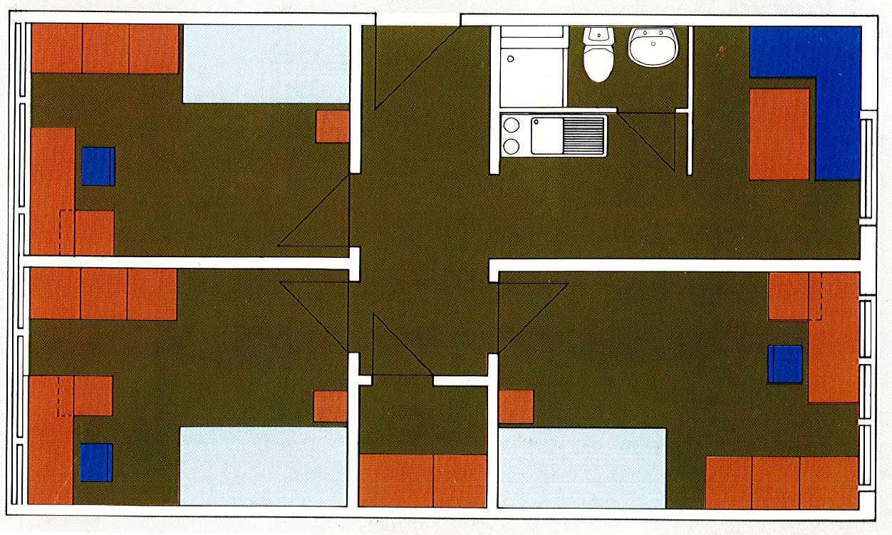 Zimmer in Dreierappartement im Studentenwohnheim Erlangen - ERBA in