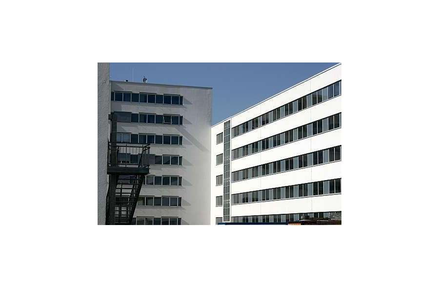 Blick auf Haus 3 und 4