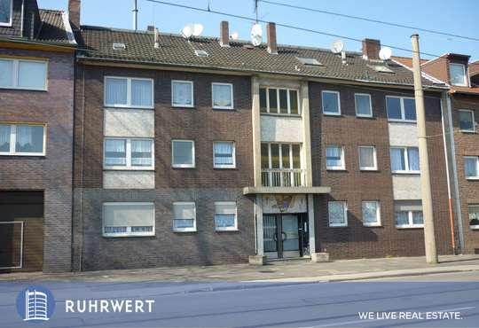 Außenansicht von Solides Mehrfamilienhaus – nahezu vollvermietet – in Duisburg-Obermeiderich!
