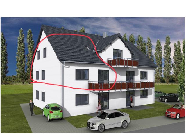 Erstbezug: schöne 4,5-Zimmer-Maisonette-Wohnung (140m²) mit großem Balkon in Gundihausen in
