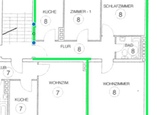 3-Zimmer-Wohnung mit Balkon in der Oststadt