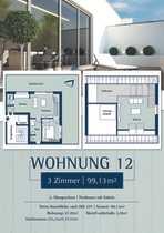 Moderne Penthousewohnung mit 3 Zimmern