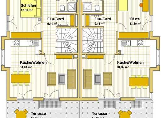 Provisionsfrei: Neubau, ruhig gelegene 4-Zimmer-Doppelhaushälfte in München-Trudering (S4 & U2)