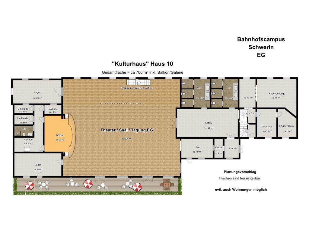 Haus 10 Kulturhaus EG