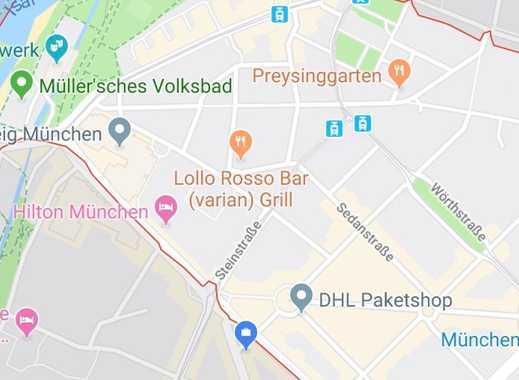 möbliertes WG Zimmer in 2-er WG im 4. Stock in Haidhausen bis einschl. April 2020 zu vermieten
