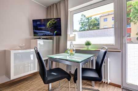 """""""Pauschalmiete"""" Moderne 1,5 Zimmerwohnung mit West Balkon, Komplett ausgestattet in Moosach"""