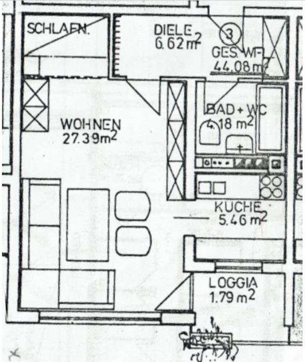 Gepflegte 1-Zimmer-Apartement mit Loggia in Grafing Bahnhof mit Alpenblick in