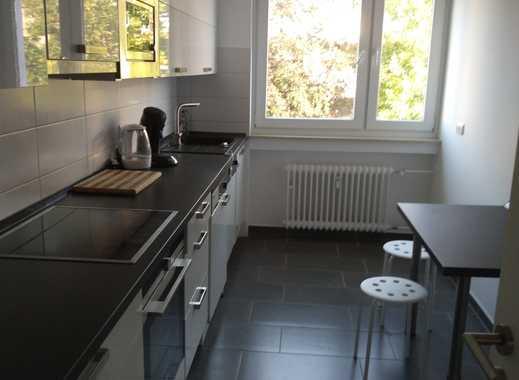 möblierte und hell beleuchtete 3-Zimmer-Wohnung im grünen Büderich