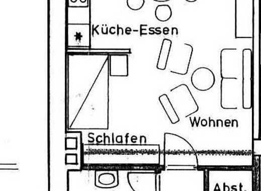 Helle 1-Zimmer-Wohnung mit herrlicher Aussicht! Bezugsfrei ab 01.02.2019