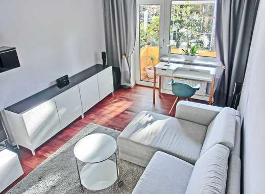 wunderschöne modern möblierte 2,5 Zimmer Wohnung/ Süd-Balkon/ ab sofort frei