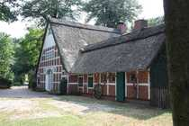 Ehemaliges Bauernhaus mit Reetdach Pferdeboxen
