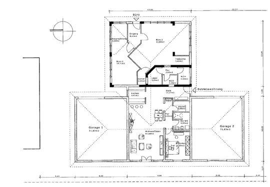 Grundriss mit Wohnung