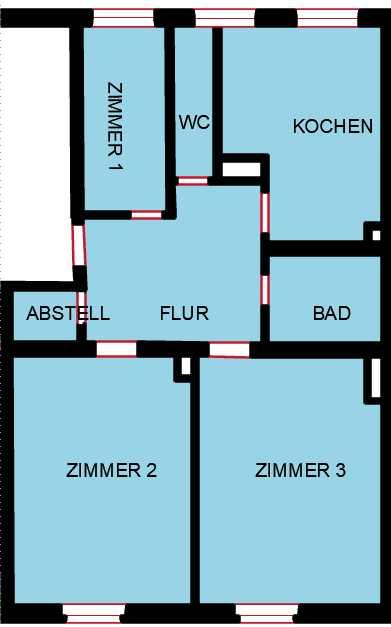 Erstbezug: Helle sanierte Altbau Wohnung mit Echt-holz Parkett am Dante Bad in Nymphenburg-Neuhausen in Neuhausen (München)
