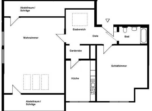 Gemütliche großzügige DG-Wohnung Katernberg / Beek