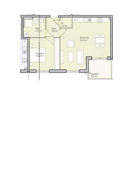 Sonnige 2-Zimmer Wohnung zu vermieten (Wh 12) in Wolfgang