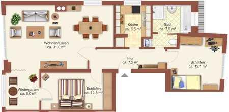 Moderne 3-Zimmer-Wohnung (NEUwertig, Baujahr: 2015) in zentraler Lage von München-Großhadern in Hadern (München)