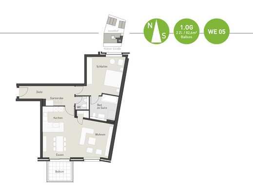 Zeitloses Wohnen auf ca. 82,6 m² mit großem und offenem Wohn-Koch-Essbereich!