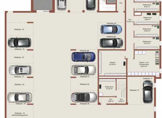 Stellplatz in moderner Tiefgarage mit nur 24 Plätzen