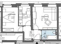 2-Raum Wohnung im sanierten Altbau