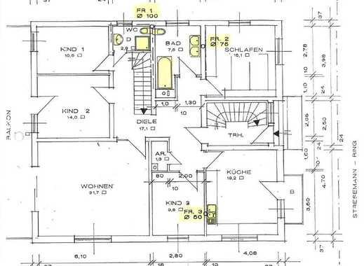 Moderne 5-Zimmer-Wohnung in ruhiger Wohnlage zu verkaufen