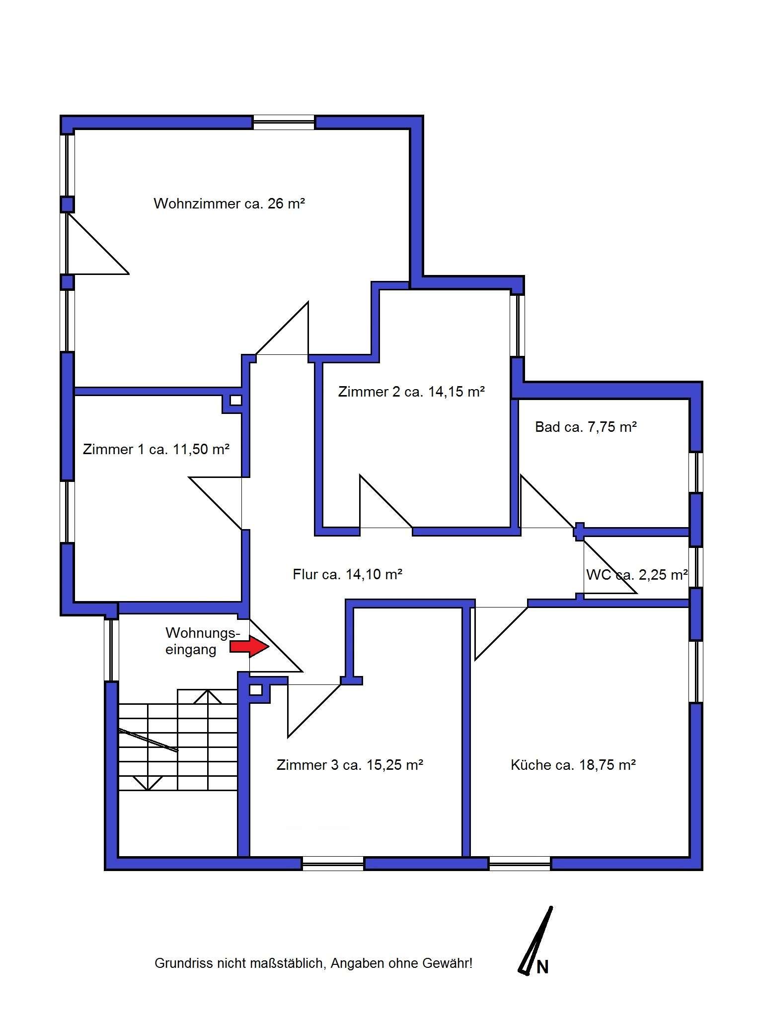 Großzügige 4-Zimmer-Wohnung in Obermenzing, München in Obermenzing (München)