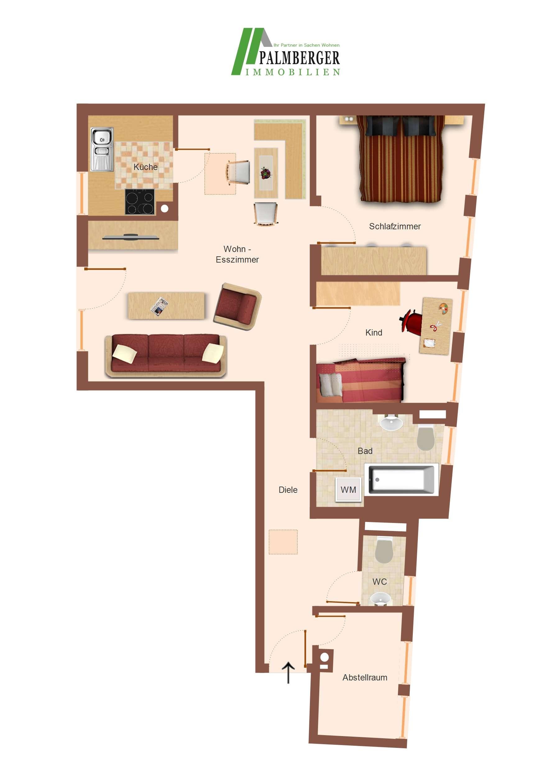 Eine Dachgeschosswohnung - ruhige Lage