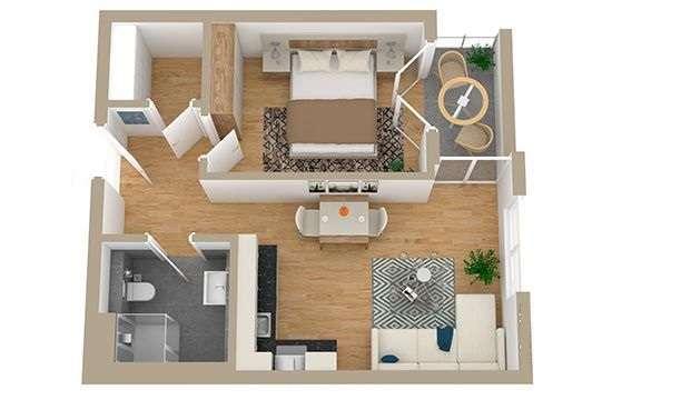 Modernes Appartement mit sonnigen Bergblick