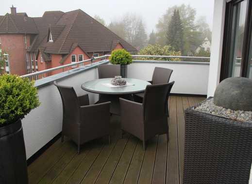 Neuwertige 3-Zimmer-Penthouse-Wohnung mit Balkon und Einbauküche in Weyhe