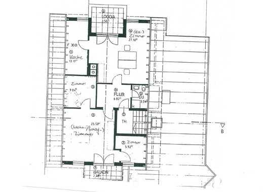 2,5-Zimmer-Dachgeschosswohnung mit Balkonen in Oberschleißheim
