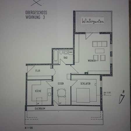 Gepflegte 2,5 Zi--Wohnung mit Einbauküche und Wintergarten in Neu-Ulm/Reutti in Neu-Ulm (Neu-Ulm)