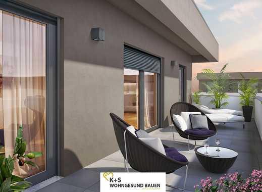 Moderne Penthouse-Wohnung mit viel Tageslicht und ca. 37 m² Dachterrasse