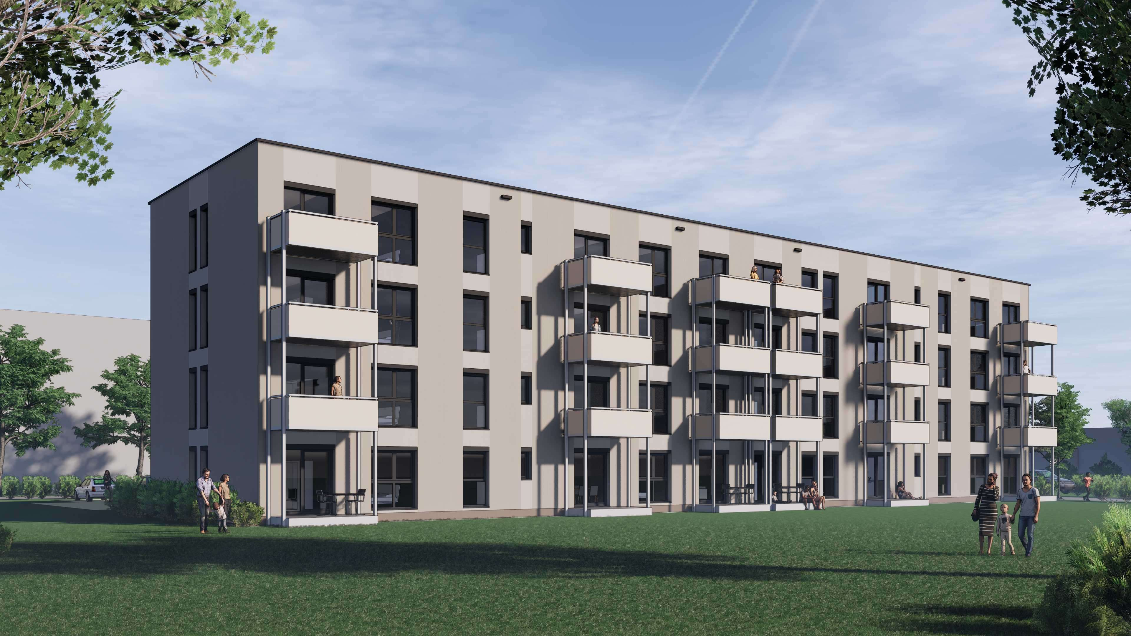 1-Zimmer Neubau Wohnung mit Südbalkon - Erstbezug in