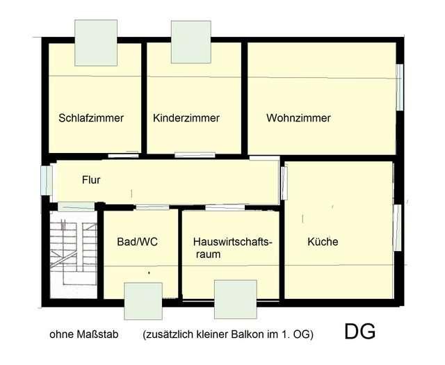 zu vermieten: 3-4-Zimmer-DG-Wohnung in Schöllnach